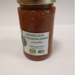 Eko kocljeva zelenjavna omaka z baziliko
