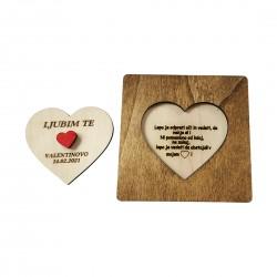 Leseno srce z verzom