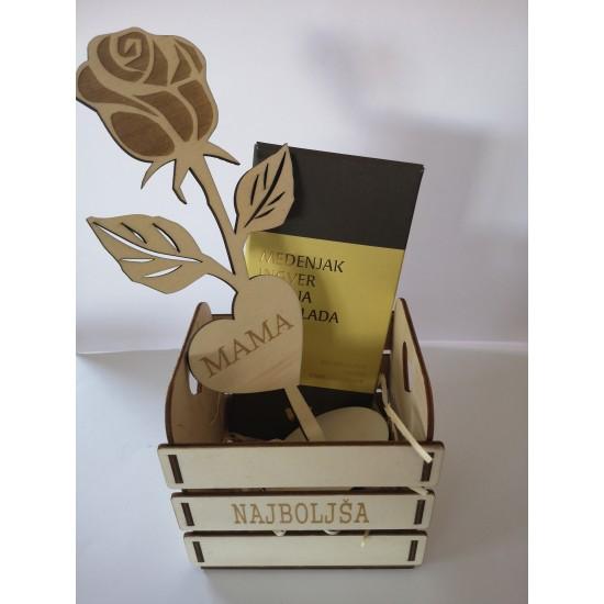 darilni paket mini gajbica z vrtnico